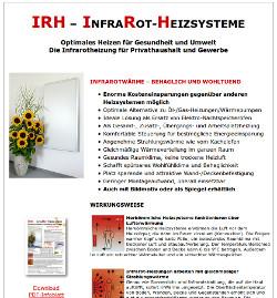 Infrarot Heizsysteme irh infrarot heizsysteme in heilbronn
