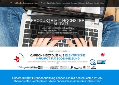 TF-Elektrische-Fußbodenheizungen Deutschland - Infrarotheizung ...